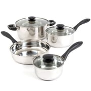 Gibson Gibson Home Silver Stream 7-Piece Mirror Polished Cookware Set (93586658M)