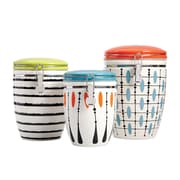 Gibson Studio California Luminescent 3-Piece Canister Set, Mixed Colors (113191.03)