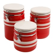 Gibson Just Dine Bistro Edge 3 pc Canister Set (113123.03)