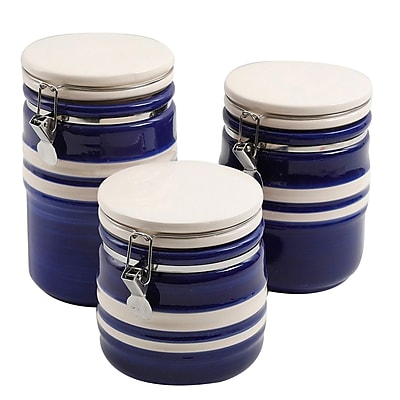 Gibson Just Dine Bistro Edge 3 pc Canister Set (113119.03)