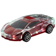 Qfx QFX Mini Translucent Musical Car With Bluetooth/FM/USB/Micro-SD And Disco Lights, Red (935102233M)