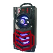 Quantum Fx Quantum FX Portable Bluetooth Rechargeable Speaker with FM Radio - Red (93599735M)