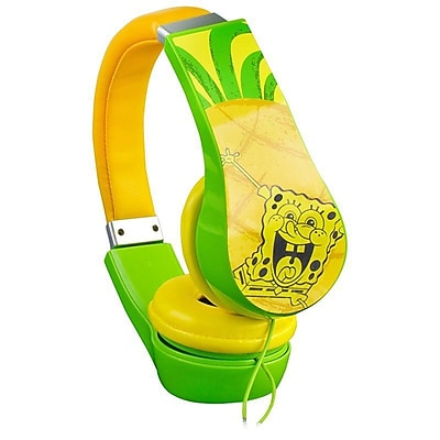 Nickelodeon SpongeBob Squarepants Kids Friendly Cushioned Headphones with Volume Limiter (935100708M)