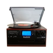 Boytone Bluetooth IN & OUT Classic Style Record Player Turntable with AM/FM Radio, Cassette Player, CD Player (935101328M)