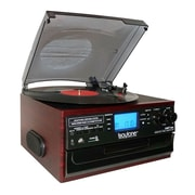 Boytone Bluetooth IN & OUT Classic Style Record Player Turntable with AM/FM Radio, Cassette Player (935101329M)