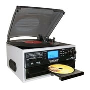 Boytone Bluetooth IN & OUT Classic Style Record Player Turntable with AM/FM Radio, Cassette Player, CD Player (935101330M)