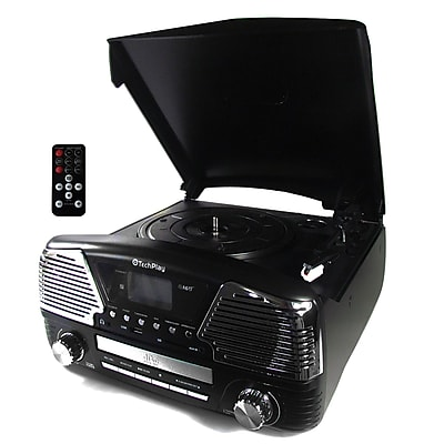 Techplay TechPlay 3 Speed Bluetooth Turntable in Black (935100281M)