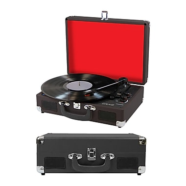Craig 3-in-1 Turntable Attache Case System with Bluetooth, Black (935101553M)
