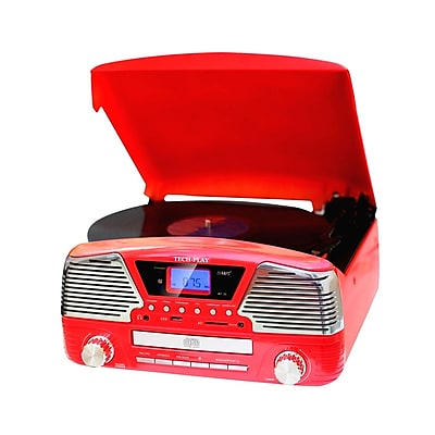 Techplay TechPlay 3 Speed Bluetooth Turntable in Red (935100282M)