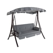 CorLiving Patio Swing, Charcoal/Grey (PNT-532-S)