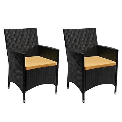 CorLiving 2 Piece Patio Chair Set (PCD-401-C)