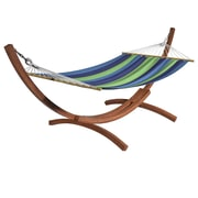 CorLiving Free Standing Hammock, Blue/Green Stripes (PWC 344 H) by
