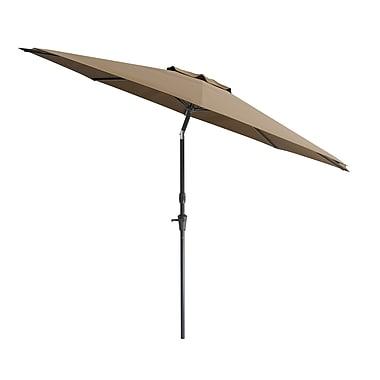 CorLiving Tilting Patio Umbrella, Brown (PPU-720-U)
