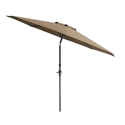 CorLiving Tilting Patio Umbrella, Brown (PPU-720-U)