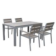 CorLiving 5 Piece Outdoor Dining Set (PJR-572-Z1)