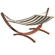 CorLiving Free Standing Hammock, Blue/Beige Stripes (PWC 364 H) by