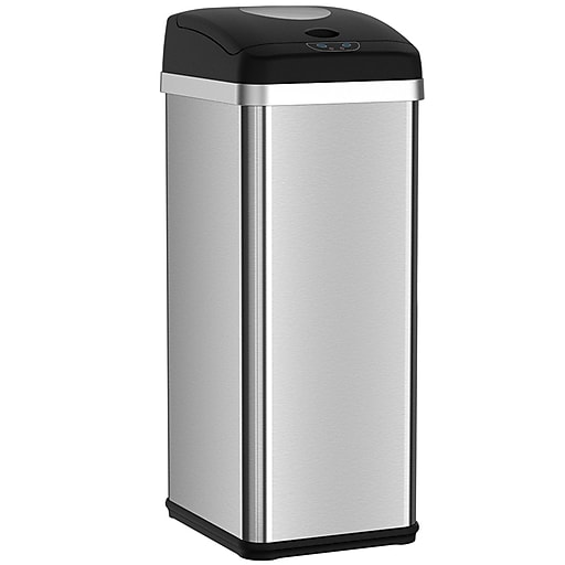 Automatic Trash Can Stainless Steel Sensor Kitchen Https Www Staples 3p S7 Is