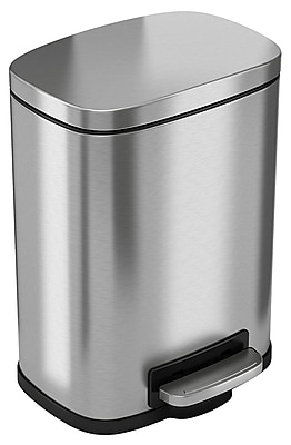 iTouchless SoftStep Stainless Steel Step Trash Can, 5.6 Liter / 1.5 Gallon, Kitchen Trash Can (PC05RSS)