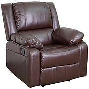 Flash Furniture Harmony Series LeatherSoft Manual Recliners Brown Leather (BT705971BN)