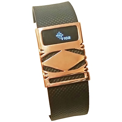 Funktional Wearables Geo Cover for Fitbit Charge/Charge HR, Rose Gold (GEOCOVER-ROSE)
