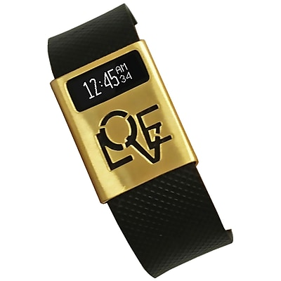 Funktional Wearables Love Rules Cover for Fitbit Charge/Charge HR, Brushed Gold (LOVERULCOVER-BRGLD)