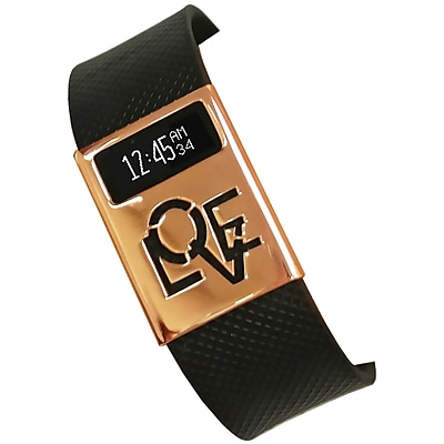 Funktional Wearables Love Rules Cover for Fitbit Charge/Charge HR, Rose Gold (LOVERULCOVER-ROSE)