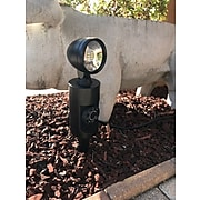 Link2Home LED Outdoor Garden Stake Single Light with Timer, Black (EM-2711B)