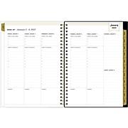 "2022 Blue Sky Day Designer Swiss Dot Black 5"" x 8"" Weekly & Monthly Planner, Black/Gold (133262)"