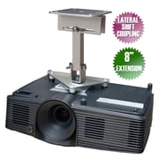 PCMD Projector Ceiling Mount for Sanyo PLC WU3001 PLC XU4000 PLC XU4001, 8 inch Extension, SANYO PLC WU3001 LAT 8EXT by