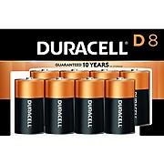Duracell Coppertop D Alkaline Batteries, 8/Pack (MN13R8DW)