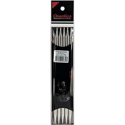 ChiaoGoo Size 10.75/7mm Double Point Stainless Steel Knitting Needles 8