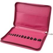 Clover Pink Interchangeable Circular Knitting Needles Case (3652)