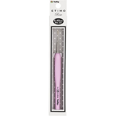 Tulip Needle Company Size 15/.45mm Tulip Etimo Rose Steel Crochet Hook (TEL-15E)