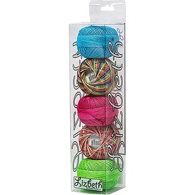 Handy Hands Rainbow Lizbeth Specialty Pack Cordonnet Cotton, Size 20, 5/Pkg (SP20-7212)