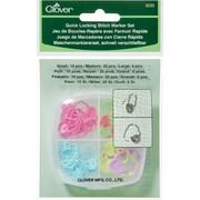 Clover Quick Locking Stitch Marker Set, 36/Pkg (3033)