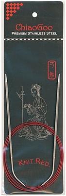 ChiaoGoo Size 10/6mm Red Circular Knitting Needles 40