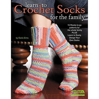 Leisure Arts Learn To Crochet Socks For The Family (LA-5567)