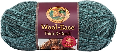 Lion Brand Blueberry Wool-Ease Thick & Quick Bonus Bundle Yarn (641-526)