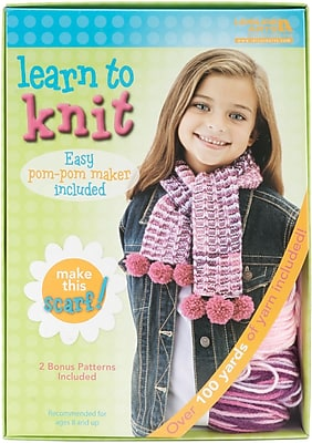 Leisure Arts Scarf Learn To Knit Kit (46773)