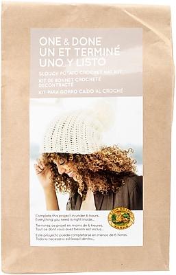 Lion Brand Slouch Potato Crochet Hat One & Done Yarn Kit (606-100)
