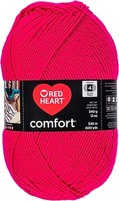 Coats Yarn Cerise Shimmer Red Heart Comfort Yarn (E707D-5004)