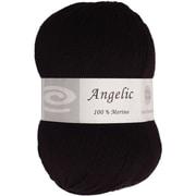 Elegant Yarns Angelic Yarn, Charcoal Black (Q105-F620)