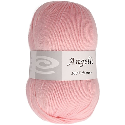 Elegant Yarns Angelic Yarn, Powder Pink (Q105-F202)