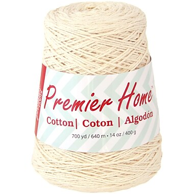 Premier Yarns Cream Home Cotton Yarn - Solid Cone (1033-02)