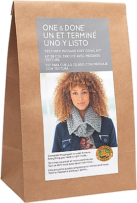 Lion Brand Textured Message Knit Cowl One & Done Yarn Kit (606-150)