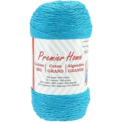 Premier Yarns Turquoise Home Cotton Grande Yarn - Solid (59-12)