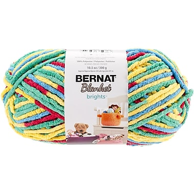 Spinrite Variegated Bernat Blanket Brights Big Ball Yarn, Rainbow Shine (161212-12016)