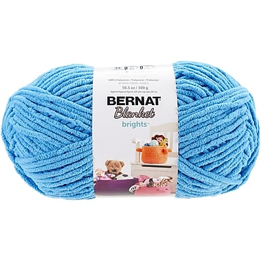 Spinrite Bernat Blanket Brights Big Ball Yarn, Busy Blue (161212-12005)