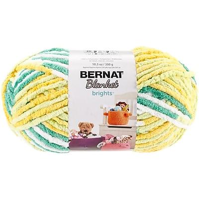 Spinrite Variegated Bernat Blanket Brights Big Ball Yarn, Lemonade (161212-12012)