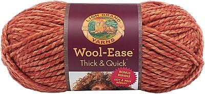Lion Brand Tangerine Wool-Ease Thick & Quick Bonus Bundle Yarn (641-524)